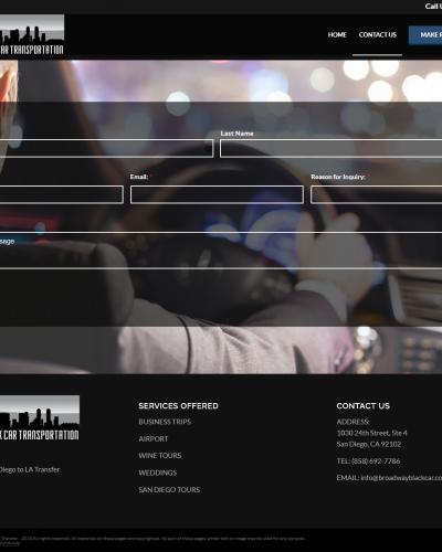 Broadway Black Car Screenshot Contact